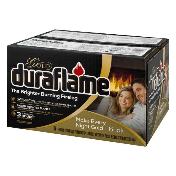 duraflame Gold Ultra Premium 4.5lb 3-hr Firelog 6 pack case 3