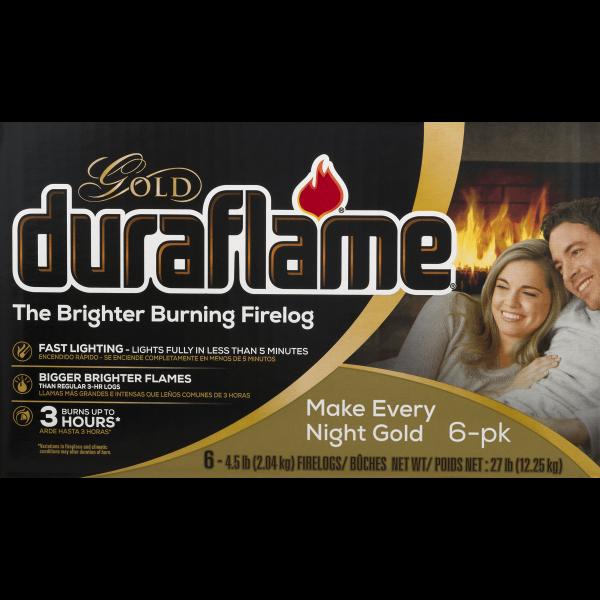 duraflame Gold Ultra Premium 4.5lb 3-hr Firelog 6 pack case 5