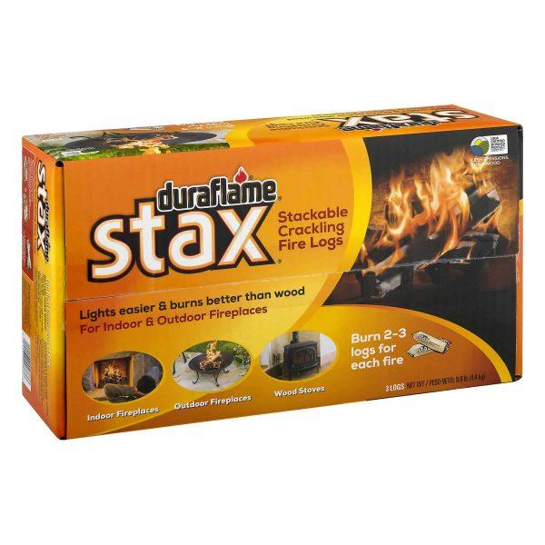 duraflame Stax Stackable Crackling Firelogs Indoor & Outdoor 1