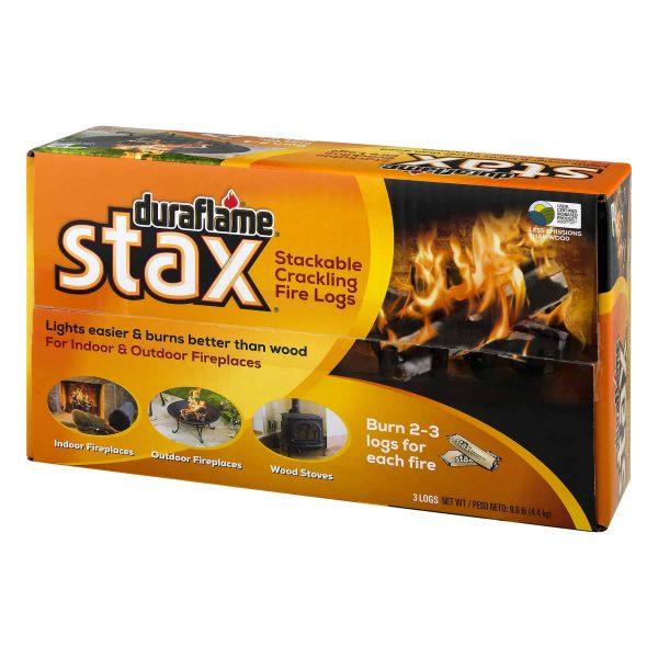 duraflame Stax Stackable Crackling Firelogs Indoor & Outdoor 2