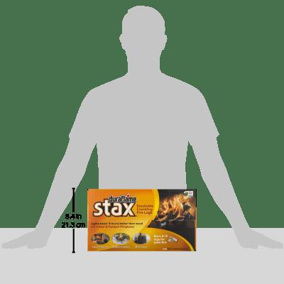 duraflame Stax Stackable Crackling Firelogs Indoor & Outdoor 5