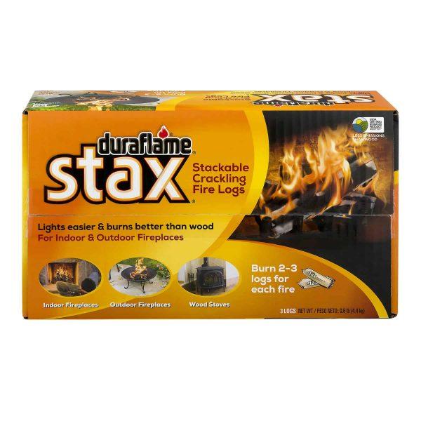 duraflame Stax Stackable Crackling Firelogs Indoor & Outdoor