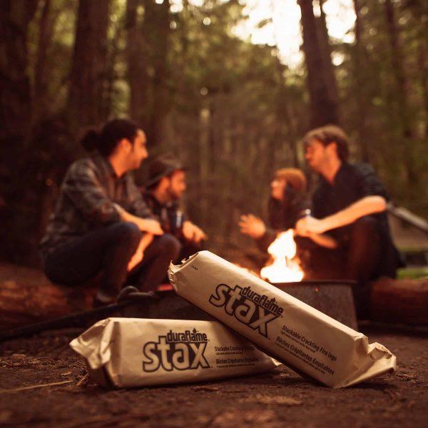 duraflame Stax Stackable Crackling Firelogs Indoor & Outdoor 9