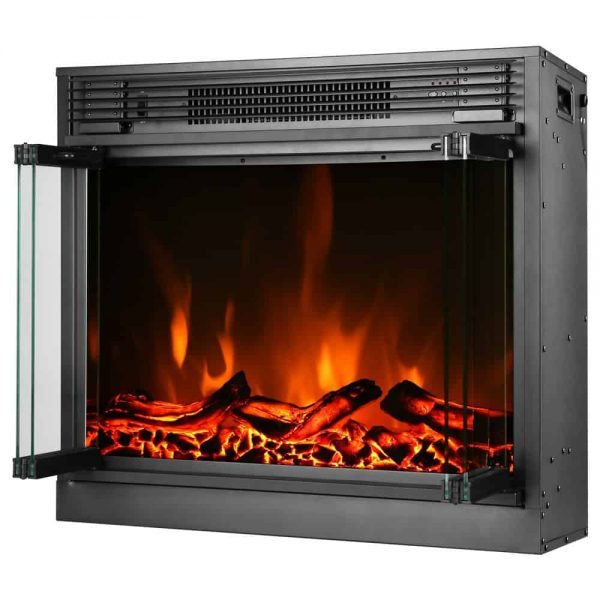 "e-Flame USA 26"" Traditional LED Electric Fireplace Insert w/Remote Control 1"