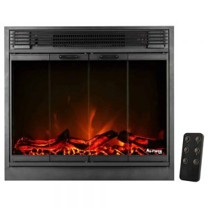 "e-Flame USA 26"" Traditional LED Electric Fireplace Insert w/Remote Control"