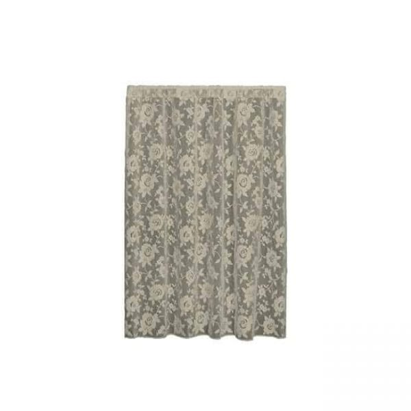 heritage lace 6360w-6096 ashby rose 60 x 96 panel - white