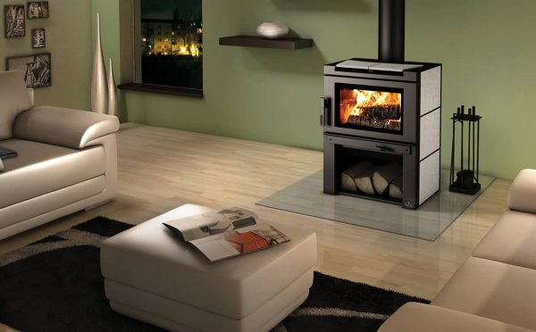 osburn matrix wood stove with soap stone panel kit