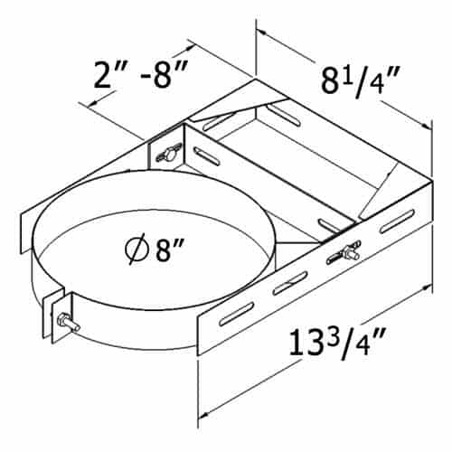 """shasta vent 6a-wb 6"""" ht collection - class a chimney pipe - double wall - wall b 1"""